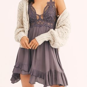Free People One Adella Slip Dress | Lace Top Flowy